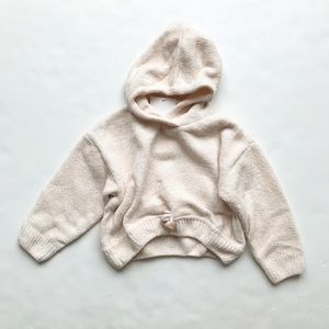 Zara NWT chenille hooded knit sweater 12-18m/4-5T